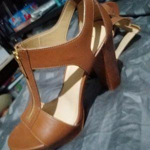 Michael Kors Shoes - Michael kors brown high heel sandels